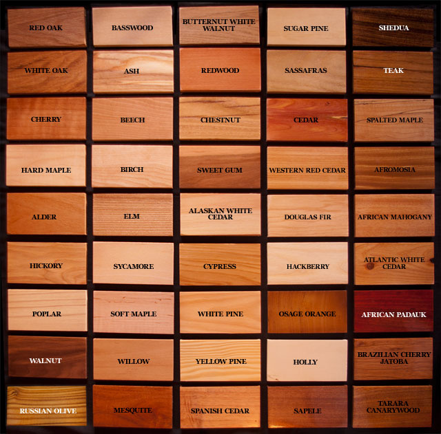 Wood Species Available For Custom Moulding Trim And